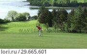 Купить «Man playing Golf», видеоролик № 29665601, снято 7 июня 2007 г. (c) Wavebreak Media / Фотобанк Лори