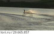 Купить «Stock Footage Water Skiing», видеоролик № 29665857, снято 11 июля 2020 г. (c) Wavebreak Media / Фотобанк Лори