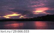 Купить «Still Red Sky», видеоролик № 29666033, снято 24 апреля 2019 г. (c) Wavebreak Media / Фотобанк Лори
