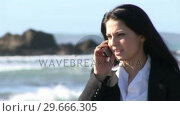 Купить «Business Woman working outdoors», видеоролик № 29666305, снято 26 февраля 2008 г. (c) Wavebreak Media / Фотобанк Лори