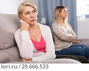Купить «daughter quarreled with her mom», фото № 29666533, снято 13 ноября 2017 г. (c) Яков Филимонов / Фотобанк Лори