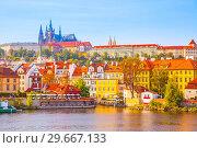 Hradcany in Prague (2009 год). Стоковое фото, фотограф Роман Сигаев / Фотобанк Лори