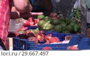 Купить «A French Farmers Market», видеоролик № 29667497, снято 22 апреля 2019 г. (c) Wavebreak Media / Фотобанк Лори