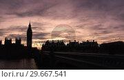 Купить «Big Ben in London Time-Lapse », видеоролик № 29667541, снято 20 июля 2019 г. (c) Wavebreak Media / Фотобанк Лори