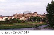 Купить «Carcassonne in France», видеоролик № 29667617, снято 18 июня 2019 г. (c) Wavebreak Media / Фотобанк Лори
