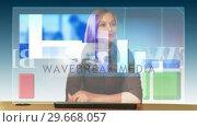 Купить «Futuristic Business concept 1», видеоролик № 29668057, снято 25 марта 2019 г. (c) Wavebreak Media / Фотобанк Лори
