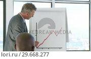 Купить «CEO financial in a business meeting», видеоролик № 29668277, снято 29 марта 2009 г. (c) Wavebreak Media / Фотобанк Лори