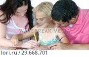 Купить «Family painting and having fun at home. Family and togetherness concept», видеоролик № 29668701, снято 26 марта 2019 г. (c) Wavebreak Media / Фотобанк Лори