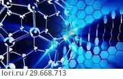Купить «Molecules in motion. Biology», видеоролик № 29668713, снято 23 мая 2019 г. (c) Wavebreak Media / Фотобанк Лори