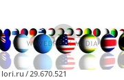 Купить «World flags turning in a circle», видеоролик № 29670521, снято 18 января 2019 г. (c) Wavebreak Media / Фотобанк Лори