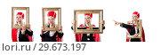 Купить «Woman queen in funny concept», фото № 29673197, снято 22 декабря 2012 г. (c) Elnur / Фотобанк Лори