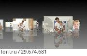 Купить «Montage of children having fun with their parents», видеоролик № 29674681, снято 10 июля 2020 г. (c) Wavebreak Media / Фотобанк Лори