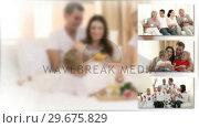 Купить «United family spending time together», видеоролик № 29675829, снято 24 марта 2019 г. (c) Wavebreak Media / Фотобанк Лори