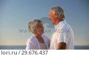 Aged couple dancing together. Стоковое видео, агентство Wavebreak Media / Фотобанк Лори