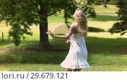 Купить «Blonde dancing in slow motion», видеоролик № 29679121, снято 17 ноября 2011 г. (c) Wavebreak Media / Фотобанк Лори