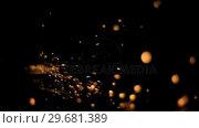 Купить «Bright sparks flowing in super slow motion», видеоролик № 29681389, снято 1 марта 2012 г. (c) Wavebreak Media / Фотобанк Лори