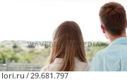 Купить «Two people looking into the distance», видеоролик № 29681797, снято 25 ноября 2011 г. (c) Wavebreak Media / Фотобанк Лори