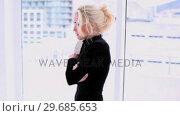 Купить «Young blonde woman cheering after pregnancy test», видеоролик № 29685653, снято 6 августа 2013 г. (c) Wavebreak Media / Фотобанк Лори