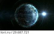 Купить «Close up of the Earth turning on itself», видеоролик № 29687721, снято 31 марта 2016 г. (c) Wavebreak Media / Фотобанк Лори