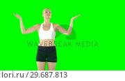 Купить «Sportswoman asking applause», видеоролик № 29687813, снято 25 января 2016 г. (c) Wavebreak Media / Фотобанк Лори