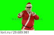 Купить «Happy santa claus dancing and singing», видеоролик № 29689981, снято 7 сентября 2016 г. (c) Wavebreak Media / Фотобанк Лори