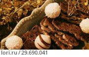 Купить «Christmas dessert and christmas decoration», видеоролик № 29690041, снято 31 августа 2016 г. (c) Wavebreak Media / Фотобанк Лори
