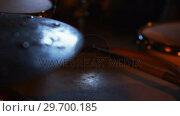 Купить «Drummer playing drum in studio», видеоролик № 29700185, снято 23 ноября 2016 г. (c) Wavebreak Media / Фотобанк Лори