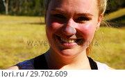 Купить «Portrait of happy woman in boot camp», видеоролик № 29702609, снято 16 марта 2017 г. (c) Wavebreak Media / Фотобанк Лори