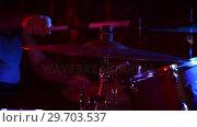 Купить «Drummer playing on drum set 4k», видеоролик № 29703537, снято 7 марта 2017 г. (c) Wavebreak Media / Фотобанк Лори