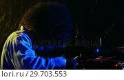 Купить «Drummer playing on drum set 4k», видеоролик № 29703553, снято 7 марта 2017 г. (c) Wavebreak Media / Фотобанк Лори