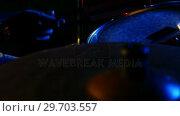 Купить «Drummer playing on drum set 4k», видеоролик № 29703557, снято 7 марта 2017 г. (c) Wavebreak Media / Фотобанк Лори