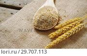 Купить «Breakfast cereals and barley on textile 4k», видеоролик № 29707113, снято 13 июня 2017 г. (c) Wavebreak Media / Фотобанк Лори