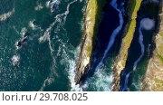 Купить «Aerial of coastline 4k», видеоролик № 29708025, снято 13 июля 2017 г. (c) Wavebreak Media / Фотобанк Лори