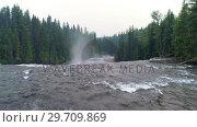 Купить «River flowing through green forest 4k», видеоролик № 29709869, снято 3 августа 2017 г. (c) Wavebreak Media / Фотобанк Лори