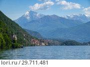 Como lake between mountains in Italy (2017 год). Стоковое фото, фотограф Михаил Коханчиков / Фотобанк Лори