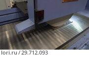 Купить «Work of an industrial surface grinding machine. Grinding of a flat metal part.», видеоролик № 29712093, снято 25 октября 2018 г. (c) Андрей Радченко / Фотобанк Лори