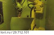 Купить «3D metal printer produces a steel part», видеоролик № 29712101, снято 26 октября 2018 г. (c) Андрей Радченко / Фотобанк Лори