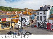Купить «The street of small town of Lyme Regis. West Dorset. England», фото № 29712413, снято 12 мая 2009 г. (c) Serg Zastavkin / Фотобанк Лори