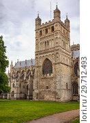 The North Tower of Exeter Cathedral. Exeter. Devon. England (2009 год). Стоковое фото, фотограф Serg Zastavkin / Фотобанк Лори