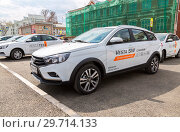 Купить «New Russian vehicle Lada Vesta SW Cross», фото № 29714133, снято 1 мая 2018 г. (c) FotograFF / Фотобанк Лори