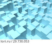 Купить «Abstract digital background with random 3d boxes», иллюстрация № 29730053 (c) EugeneSergeev / Фотобанк Лори