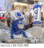 Купить «Russia, Samara, February 2018: Festival Plasticine rain. Girl-mime in a fantastic costume.», фото № 29733789, снято 23 февраля 2018 г. (c) Акиньшин Владимир / Фотобанк Лори