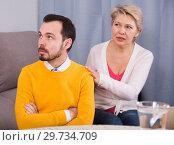 Купить «Mother and son arguing», фото № 29734709, снято 18 января 2019 г. (c) Яков Филимонов / Фотобанк Лори