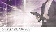 Купить «Successful businessman signing document», фото № 29734905, снято 23 февраля 2019 г. (c) Яков Филимонов / Фотобанк Лори