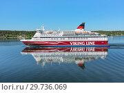 Купить «Круизный паром Gabriella компании Viking Line в Стокгольмском архипелаге, Швеция», фото № 29736069, снято 1 июня 2018 г. (c) Михаил Марковский / Фотобанк Лори