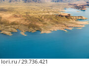 aerial view of grand canyon and lake mead. Стоковое фото, фотограф Syda Productions / Фотобанк Лори