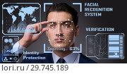 Купить «Concept of face recognition software and hardware», фото № 29745189, снято 26 марта 2019 г. (c) Elnur / Фотобанк Лори