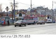 Купить «Москва. Городской транспорт на Волхонке», фото № 29751653, снято 16 декабря 2006 г. (c) Илюхина Наталья / Фотобанк Лори