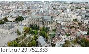 Купить «Famous gothic cathedral in Limoges city in France, Europe», видеоролик № 29752333, снято 26 октября 2018 г. (c) Яков Филимонов / Фотобанк Лори