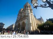 Купить «Cathedral of Notre-Dame, Paris», фото № 29754805, снято 10 октября 2018 г. (c) Яков Филимонов / Фотобанк Лори